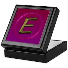 """""""E"""" Keepsake Box"""