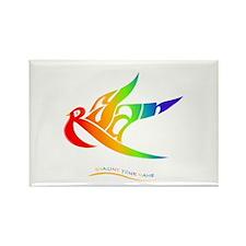 Ryan rainbow bird Rectangle Magnet