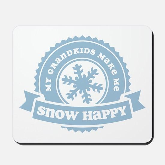 Snow Happy 2 Grandkids Mousepad