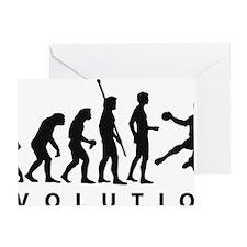 Evolution Handball A 1c Greeting Card