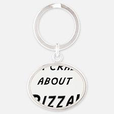 Im crazy about PIZZA Oval Keychain