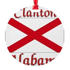 Clanton Alabama Ornament