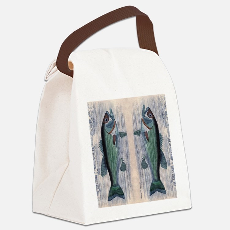Vintage Fish Canvas Lunch Bag