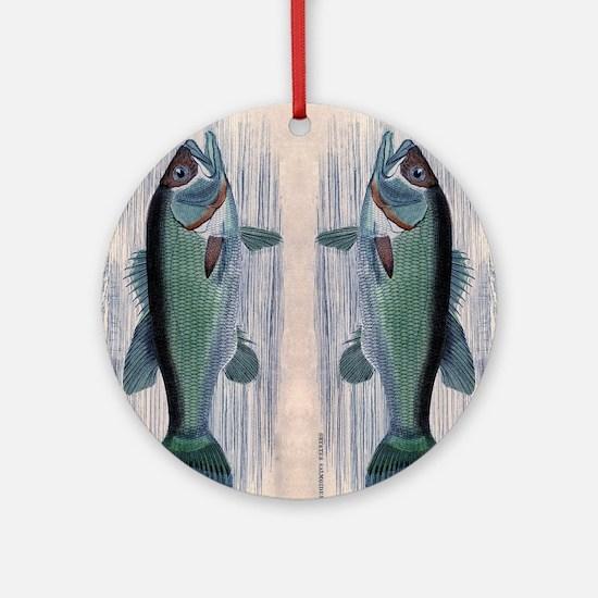 Vintage Fish Round Ornament