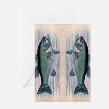 Vintage Fish Greeting Card