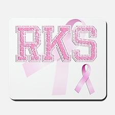 RKS initials, Pink Ribbon, Mousepad