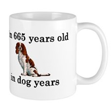 95 birthday dog years springer spaniel 2 Mugs