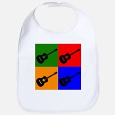 Acoustic Guitar Pop Art Bib