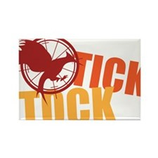 Tick Tock Catching FIre Rectangle Magnet