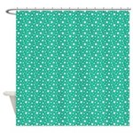 Aquamarine Stars Shower Curtain
