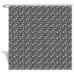 Black Stars Shower Curtain