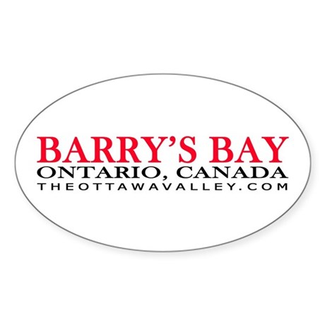 Barry's Bay Oval Sticker