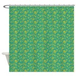 Block Floral Caribbean Shower Curtain