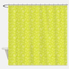 Block Floral Chartreuse Shower Curtain