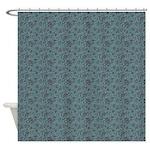 Block Floral Marlin Shower Curtain