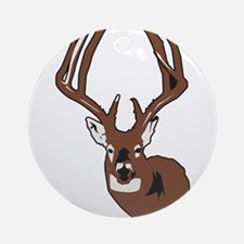 Deer Ornament (Round)