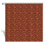Block Floral Toasty Shower Curtain