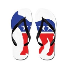 Democratic Donkey Flip Flops