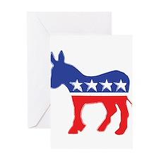 Democratic Donkey Greeting Cards