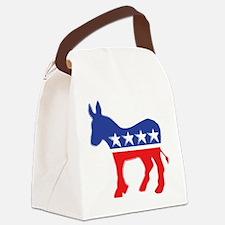 Democratic Donkey Canvas Lunch Bag