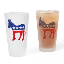 Democratic Donkey Drinking Glass