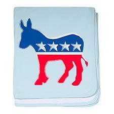 Democratic Donkey baby blanket
