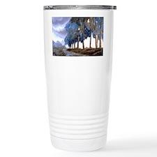 Artistic Blue Watercolor Lane Travel Mug