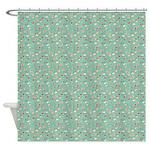 Chic Paisley Aquamarine Shower Curtain