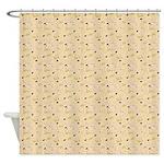 Chic Paisley Beige Shower Curtain