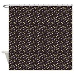 Chic Paisley Black and Green Shower Curtain