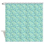 Chic Paisley Blue Shower Curtain