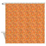 Chic Paisley Orange Shower Curtain