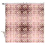 Cube-ism Brown Shower Curtain