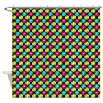 Electric Record Polka Dot Shower Curtain