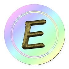 Funny Alphabet initials Round Car Magnet