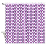 Era Stars Purple Shower Curtain