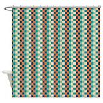 Felix Block Watery Shower Curtain