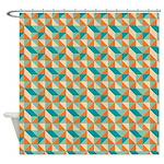 Felix Tri Watery Shower Curtain