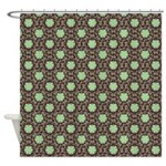 Floral Damask Molasses Shower Curtain