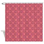 Floral Damask Rose Shower Curtain