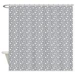 Grey Stars Shower Curtain