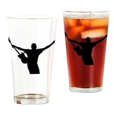 Rock Star Silhouette Drinking Glass