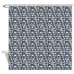 Haphazard Geometry Shower Curtain