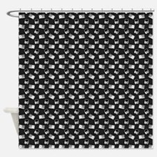 Headphone Tape Polka Shower Curtain