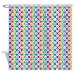 Hippy Peace Polka Dot Shower Curtain