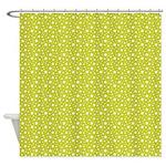 Lime Stars Shower Curtain