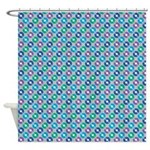 Muted Record Polka Dot Shower Curtain