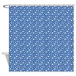 Navy Blue Stars Shower Curtain