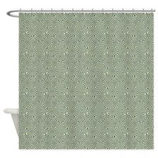 Optical Emulsion Blue Shower Curtain