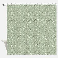 Optical Emulsion Blue Shower Curtain